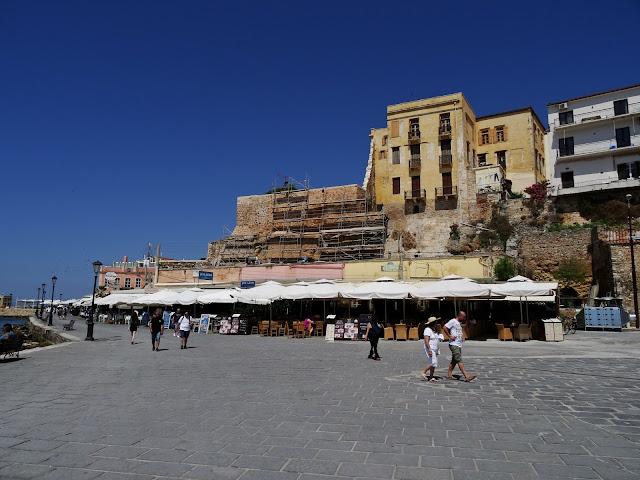 centrum Chanii na Krecie, stary port