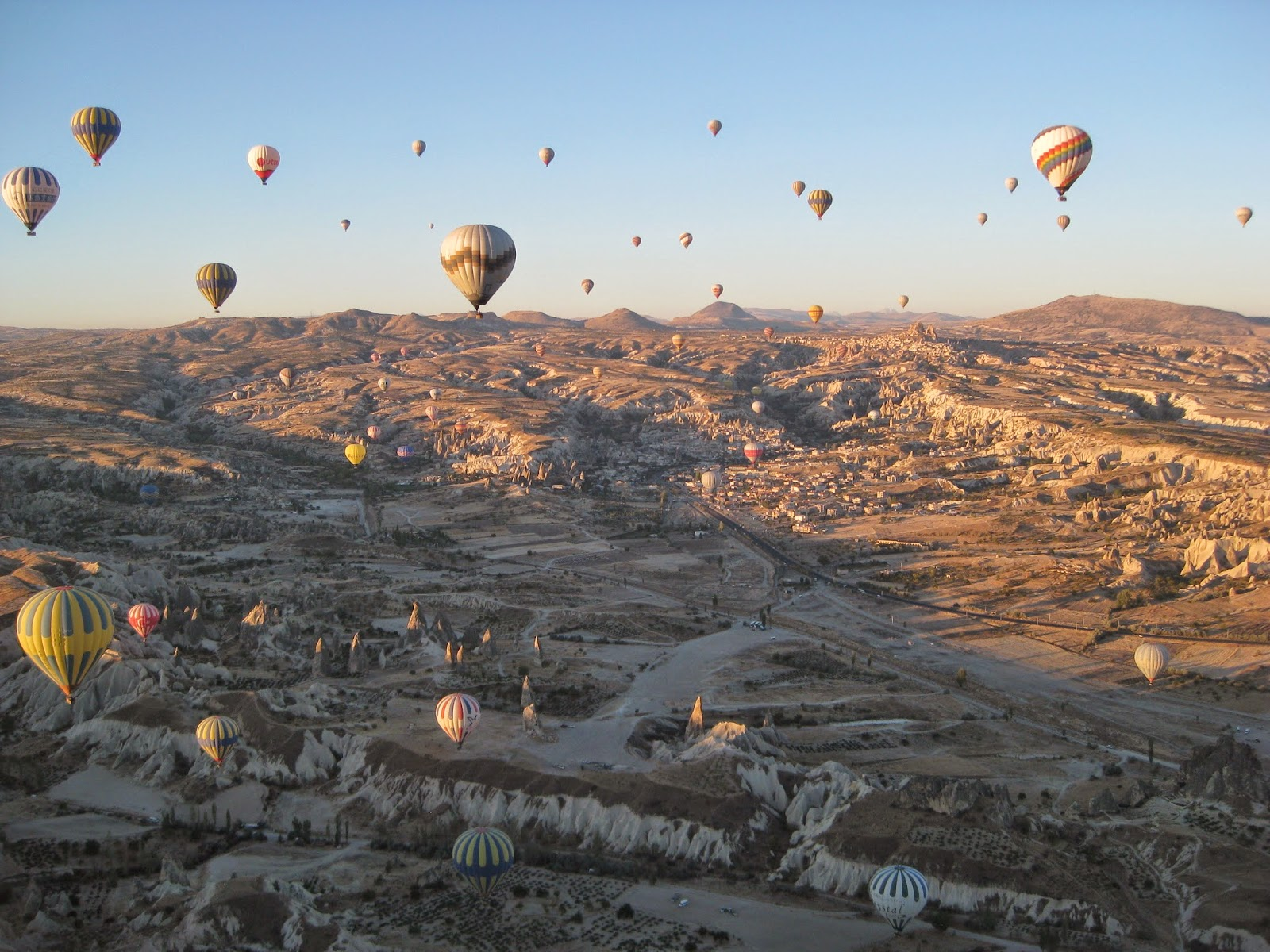 Cappadocia - The skyline is filled with balloons