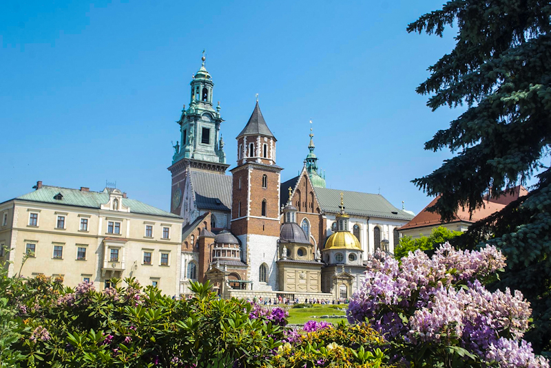 Image of the architecture and facade of the wawel castle in krakow