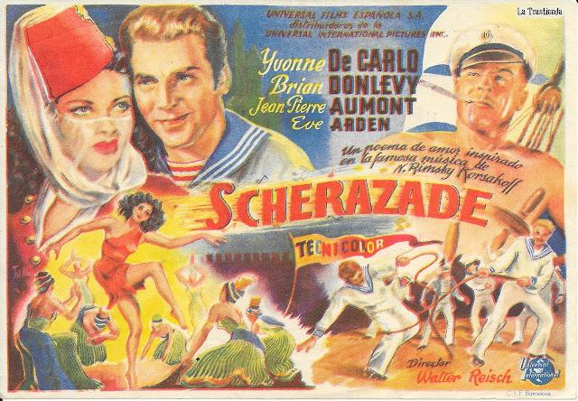 Scherazade - Programa de Cine - Yvonne de Carlo - Brian Donlevy