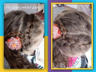 Warkocz-kwiat-fryzura-rozpuszczone-włosy-fryzurymarzeny-