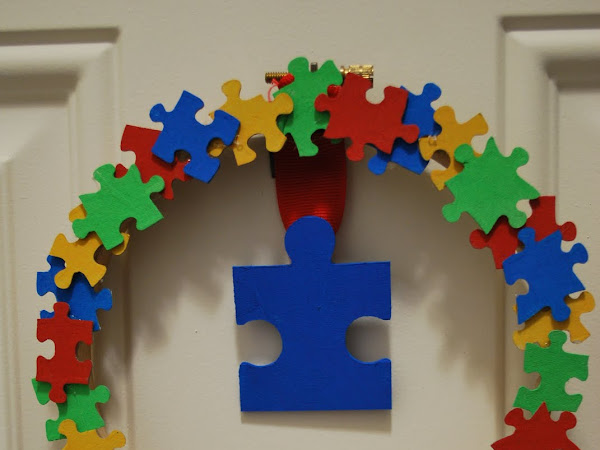 Autism Awareness Wreath How-To