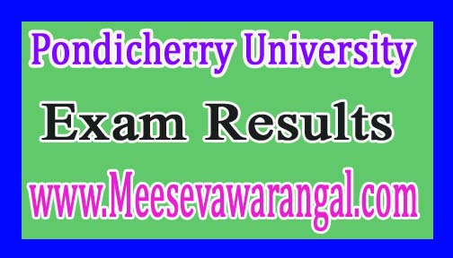 Pondicherry University B.Sc (Agricultural) Ist / IInd Year 2016 Exam Results