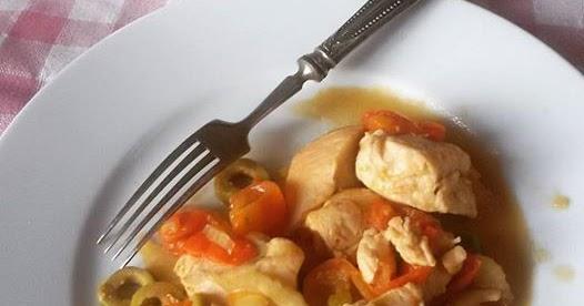 Straccetti di Pollo alle Olive & Sedano (Ricetta velocissima)