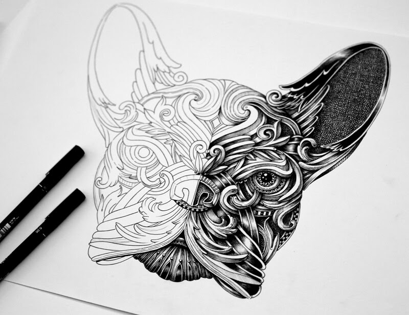 02-French-Bulldog-Frenchie-WIP-Alex-Konahin-Super-Detailed-Ink-Animal-Drawings-www-designstack-co