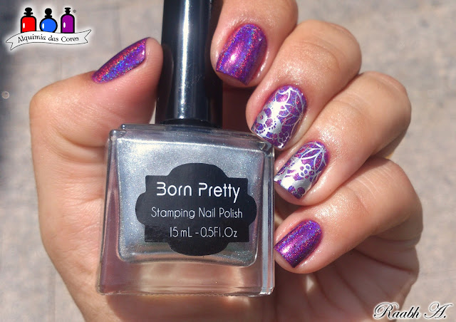 Unhas carimbadas, HK-07, HK 07, roxo, holográfico, holosexual, Orchidding Me, KBhimmer, Indie, Esmalte Indie, Orchid,
