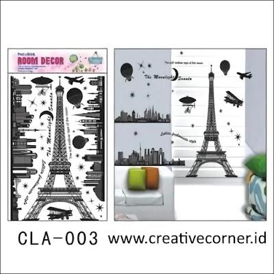 Jual Wall Sticker 3D / Stiker Dinding 3D (CLA-003)