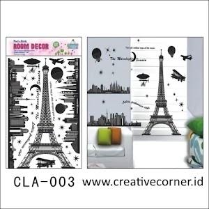 Jual Wall Sticker 3D / Stiker Dinding 3D Motif Paris (CLA-003)