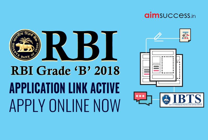 rbi grade b exam application form 2018