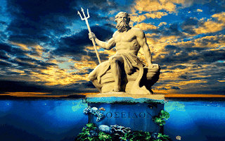 greek mythology Poseidon, Poseidon holding his trident, poseidon image