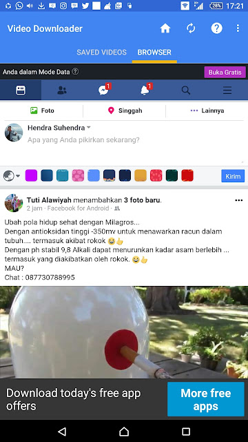 Carar Mudah Download Video Dari Facebook di Android - Blog Mas Hendra