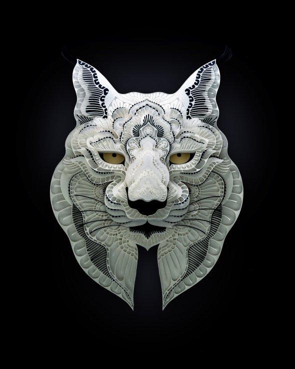 Patrick Cabral behance arte animais papel cortado espécies ameaçadas extinção wwf