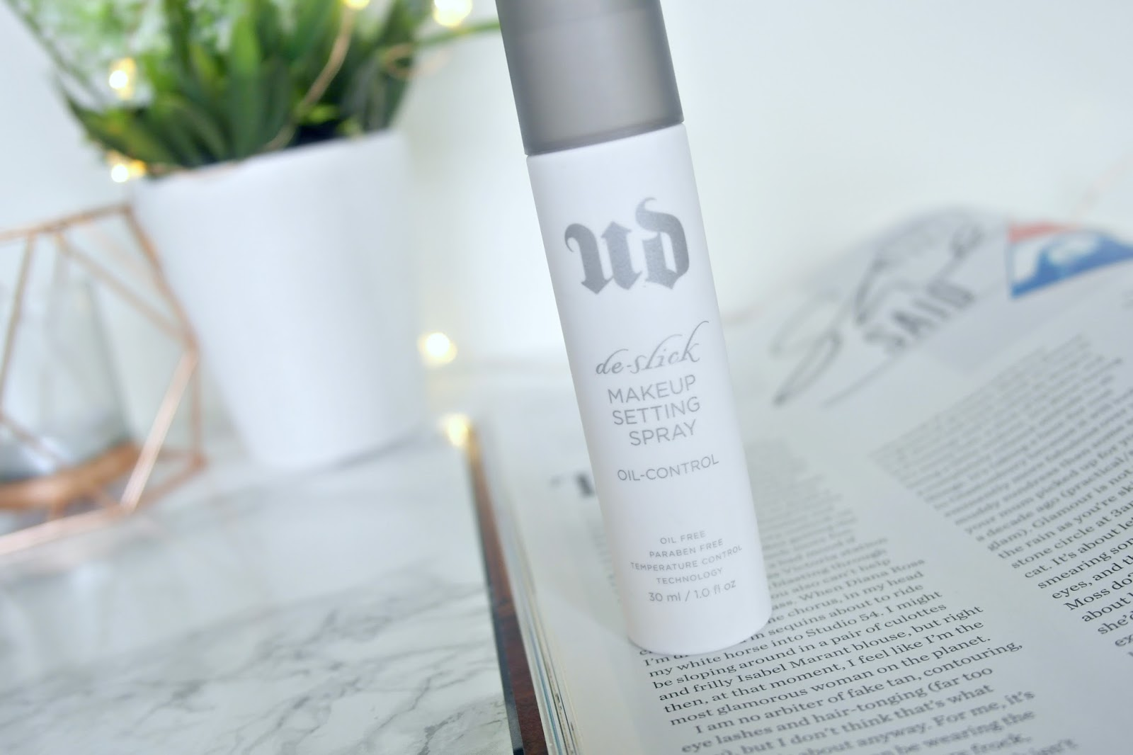 urban decay de-slick setting spray review