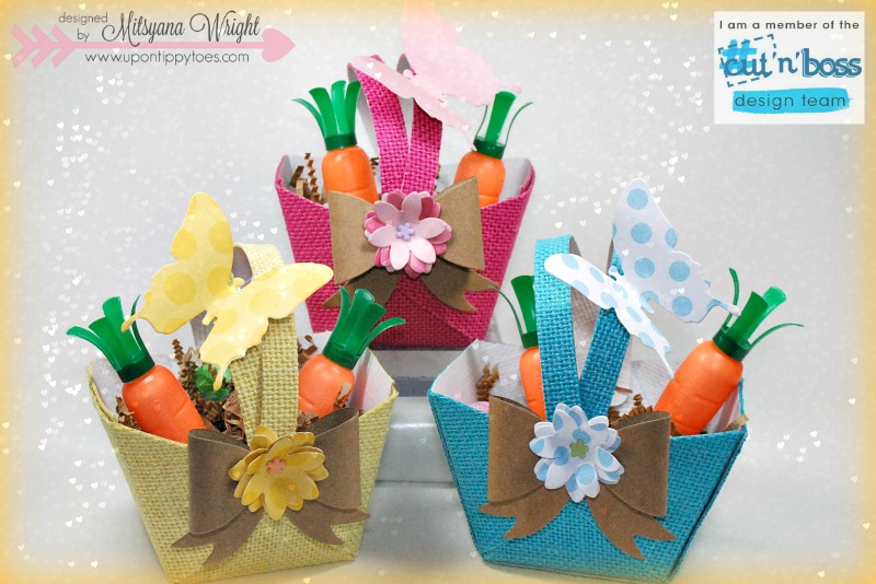 Up on tippy toes mini easter baskets mini easter baskets negle Images