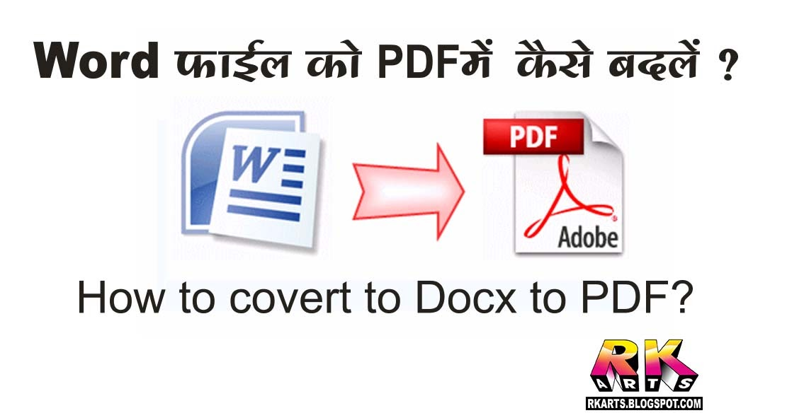 convert hindi docx file to pdf