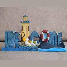 Lighthouse Welcome Figurine