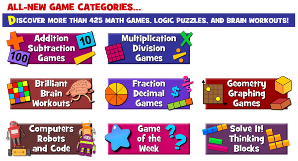 Más de 400 juegos online para practicar conceptos matemáticos y de ciencia en inglés