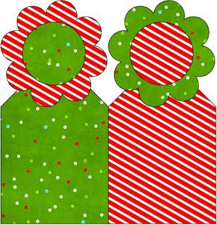Para marcapáginas de Navidad a Rayas.