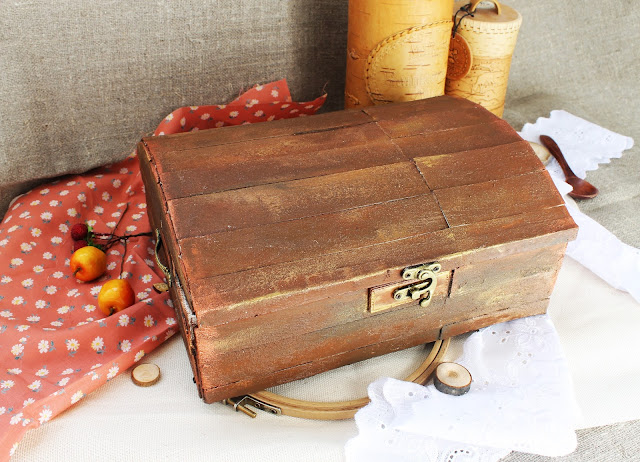 мк, картонаж, как сделать сундук, сундук с сокровищами
