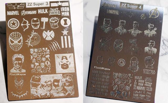 Mundo De Unas ZZ Super 3 and 4 Avengers Stamping Plates