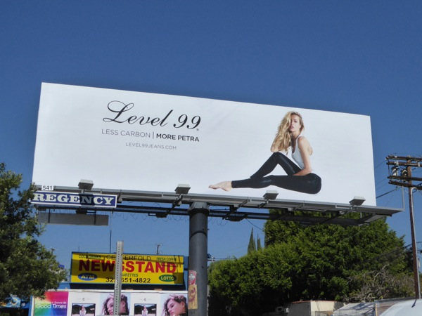 Level 99 Jeans Less carbon More Petra billboard