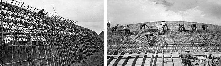 Construção de ocas Xingu e construção de Brasília