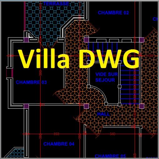 Très Villa dwg autocad - 3 plans en français | Outils, livres  ZN52