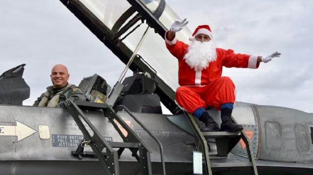 Λάρισα: Ο Άγιος Βασίλης έφτασε με F 16!