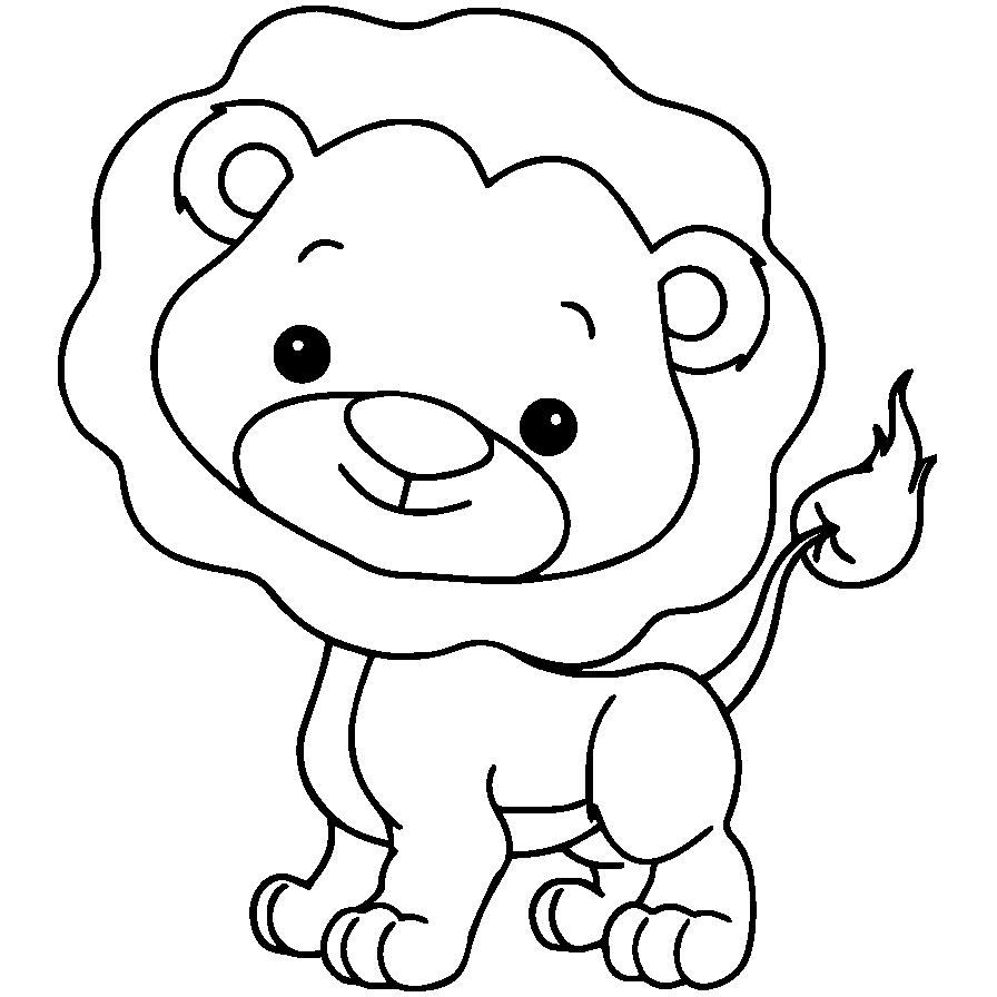 Mewarnai Gambar Hewan Anak Singa Aneka Mewarnai Gambar
