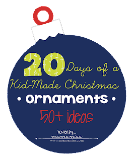 20 days of kid made Christmas ornaments