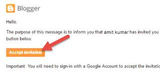 Accept invitation blogger