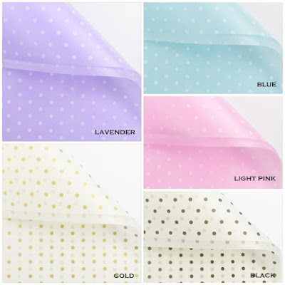 Kertas Buket Bunga / Flower Bouquet Wrapping Paper (Seri LL-020 / LL Polkadot)