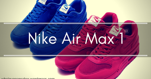 Nike Air Max 1 in red and blue
