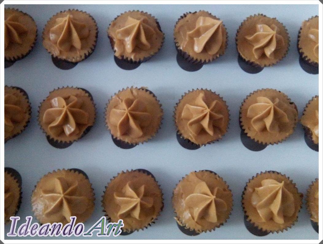 Mini cupcakes dulce leche