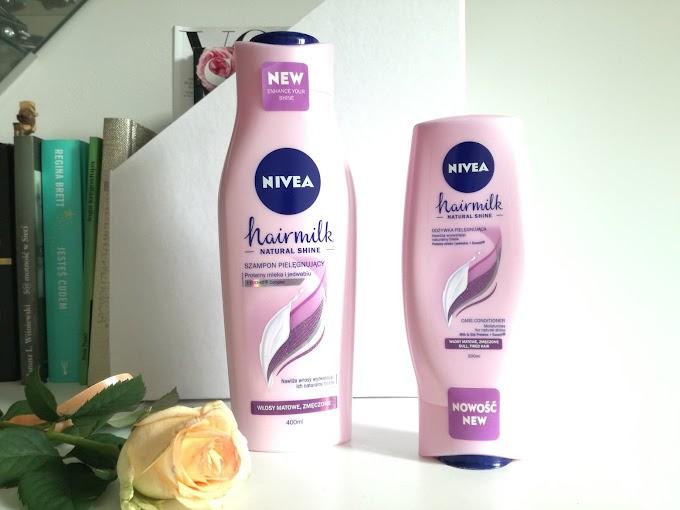NIVEA Hairmilk | mleczny zestaw wyzwalający blask włosów