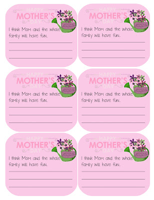 Mother's Day Activity for the Family