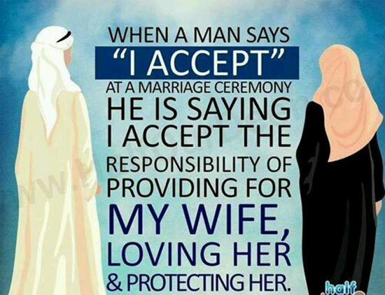 When a man says