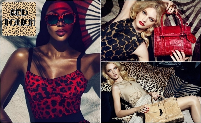 leopard print looks and red color