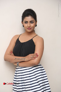 Telugu Actress Kruthika Jayakumar Stills in Short Dress at Intlo Deyyam Nakem Bhayam Success Meet  0035.JPG