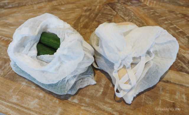 Make some cotton produce bags from muslin ~ Threading My Way