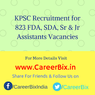 KPSC Recruitment for 823 FDA, SDA, Sr & Jr Assistants Vacancies