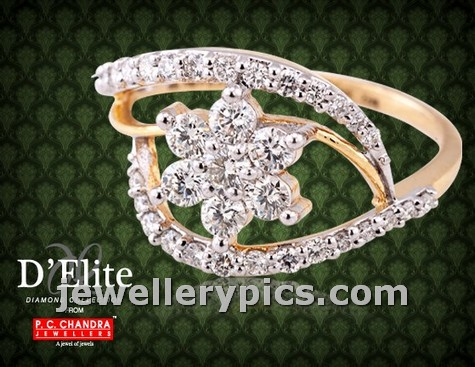 Diamond Ring Designs By Pc Chandra Jewellers Latest