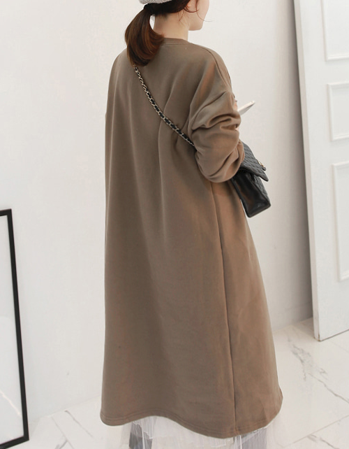 Asymmetric Slit Detail Long Dress