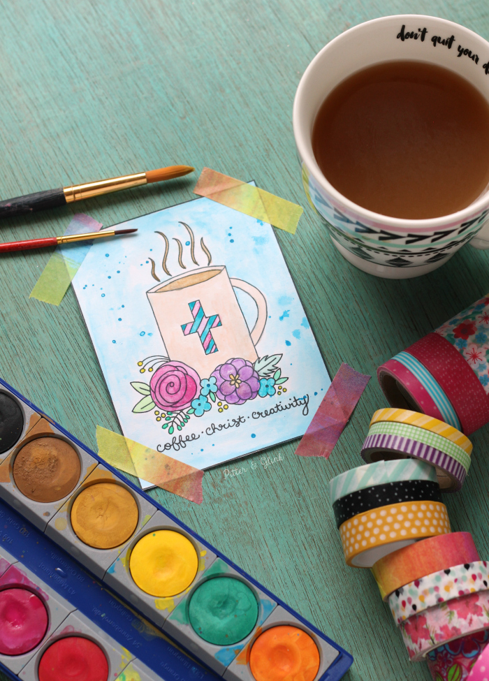 PitterAndGlink: How to Prep Coloring Pages for Paint + A Free ...