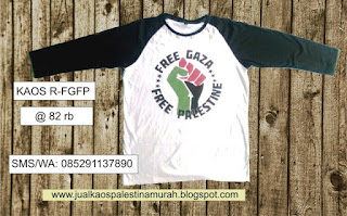Kaos Palestina Free Gaza Free Palestine Raglan