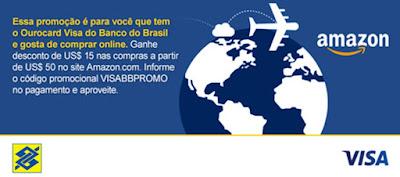 Promoção Amazon.com no Banco do Brasil Ourocard Visa