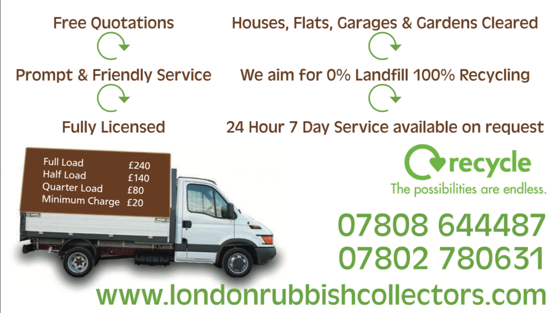 Waste Collection Service, Rubbish Removal, Junk Disposal & Waste Clearance