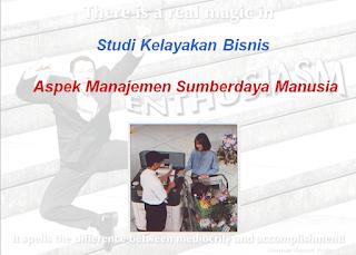Studi Kelayakan Bisnis Aspek Manajemen Sumberdaya Manusia Ngampus Dulu