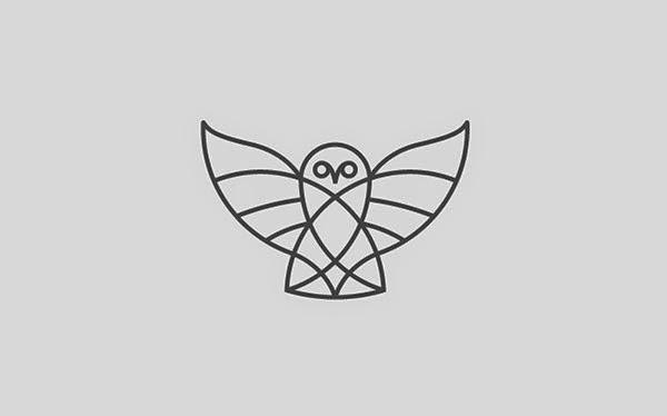 Bold & Thin line Logo Owl