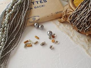 vintage style grey jewellery